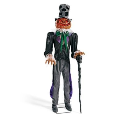 Black Feather Garland Pumpkin man, Halloween displays and
