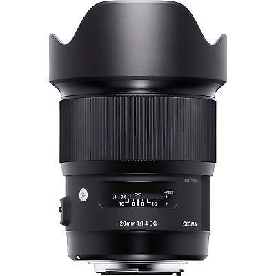 Sigma 20mm F1.4 Art DG HSM Wide Angle Lens for Nikon Full Frame DSLR ...