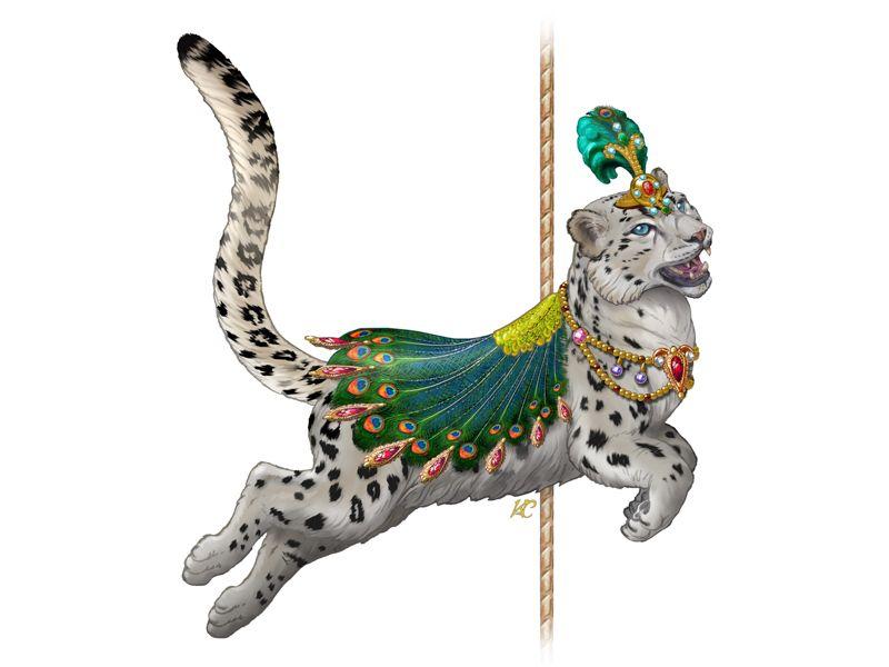 raja historic carousel museum albany oregon raja an elegant rh pinterest com snow leopard clipart snow leopard face clipart