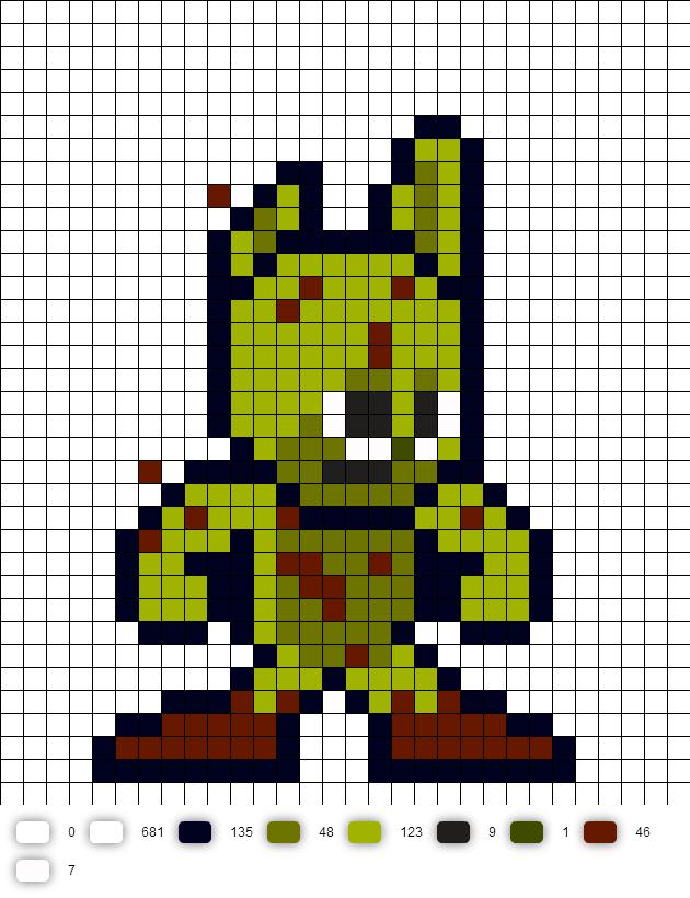 Spring Trap (FNaF) Perler Bead Pattern | Minecraft pixel art ...