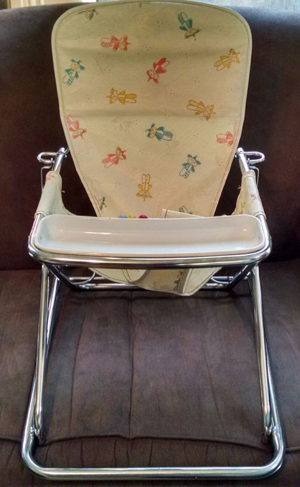 VINTAGE COSCO Baby Seat Folding Collapsible Chrome #Cosco   Vintage ...