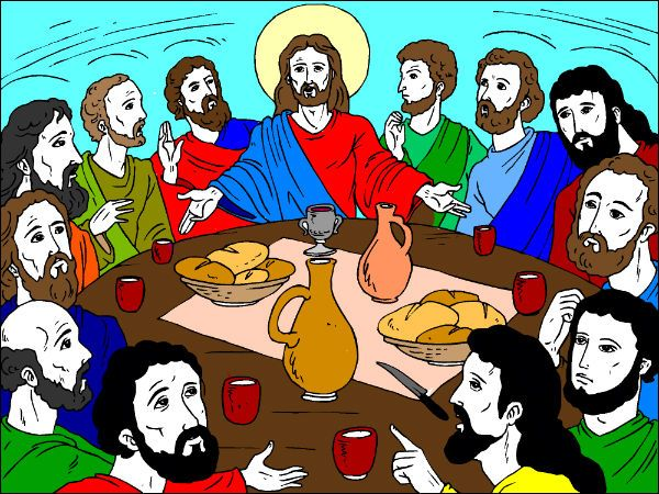 Bible Coloring Pages Last Supper