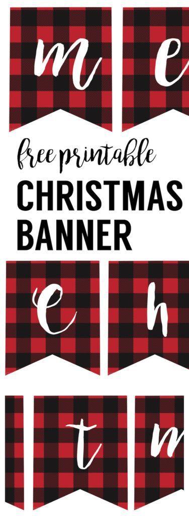 Free Printable Merry Christmas Banner | Christmas banners, Merry christmas banner, Christmas ...