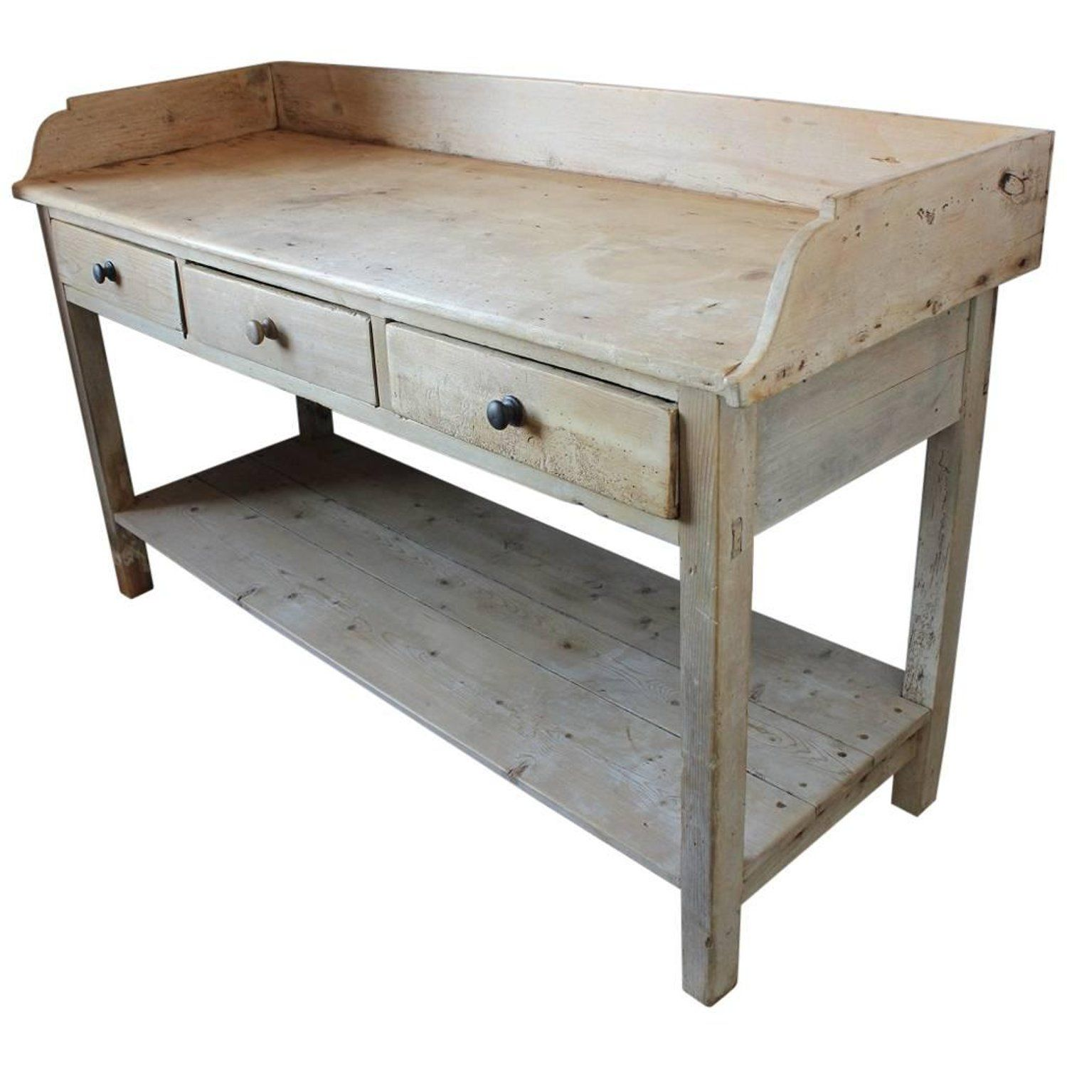 Antique French Bakery Work Table