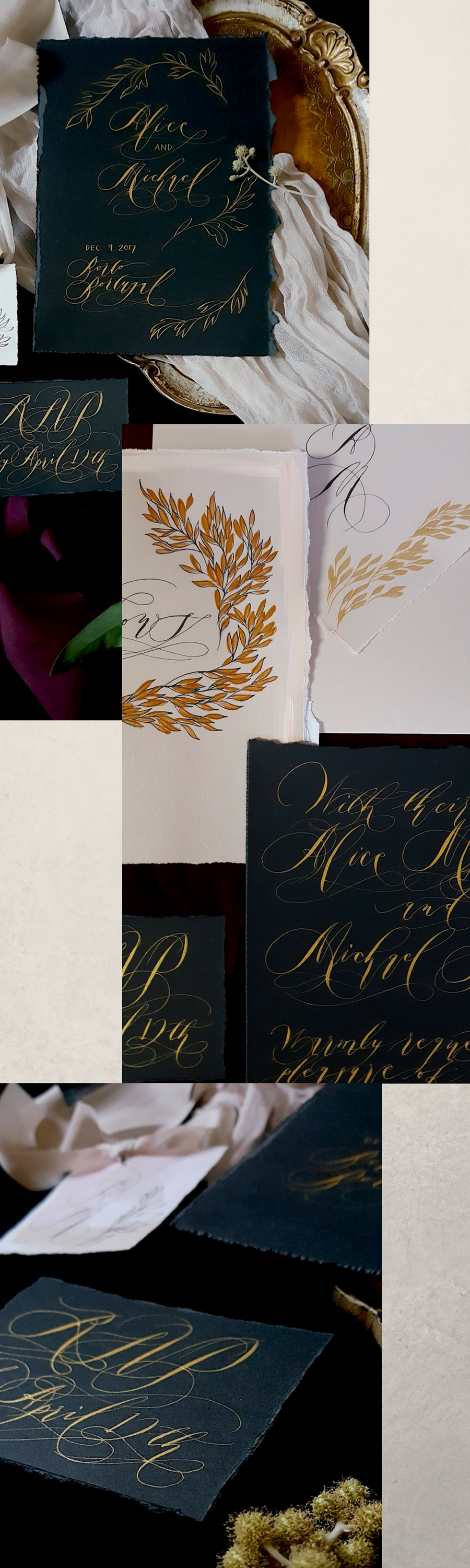 Make Sure Your Guests Are Bedazzled With Black Tie Hand Painted
