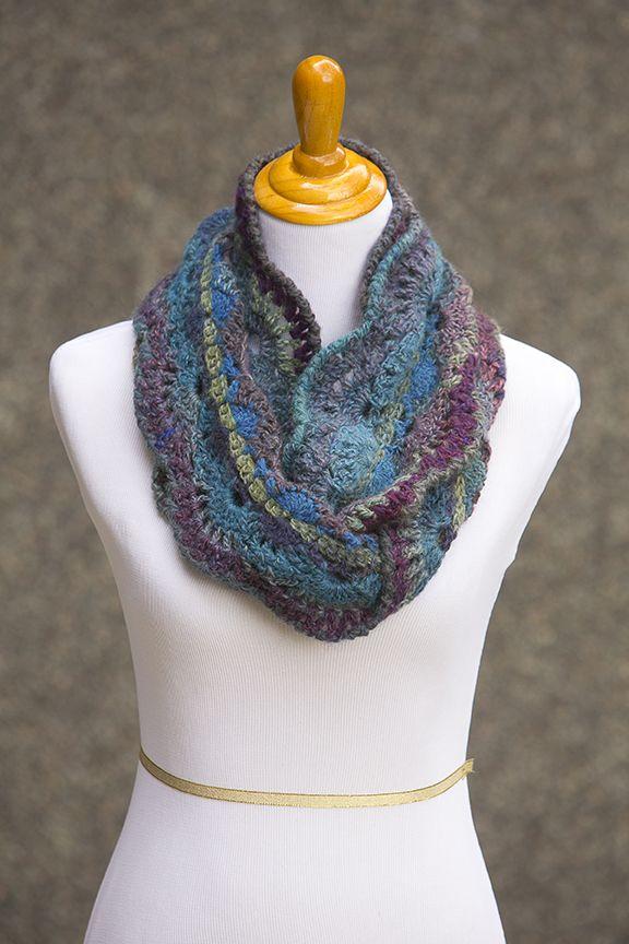 CROCHET PATTERN - Moonlit Waves Infinity Scarf | Crochet | Pinterest ...