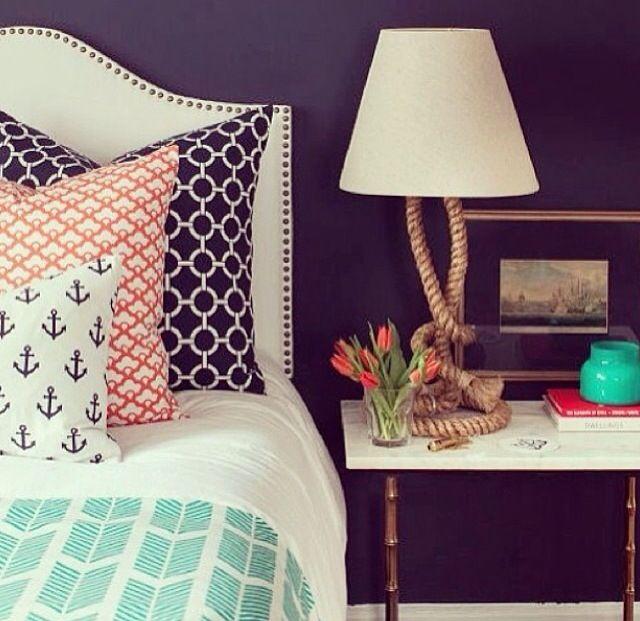 les 25 meilleures id es de la cat gorie chambre nautique. Black Bedroom Furniture Sets. Home Design Ideas
