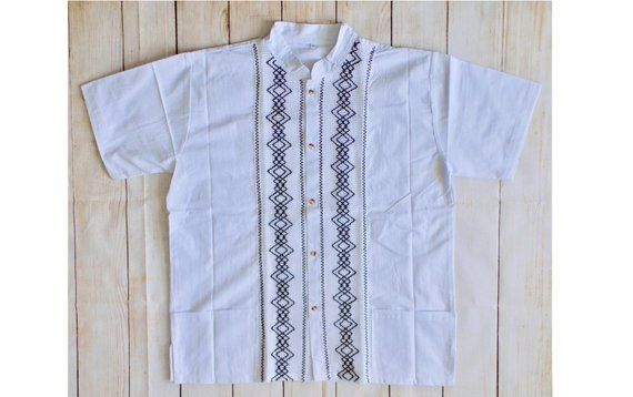 4ac856e664 Mens Guayabera - Mexican Guayabera - Traditional Mexican Shirt - Large  Guayabera - Mens Mexican Shir