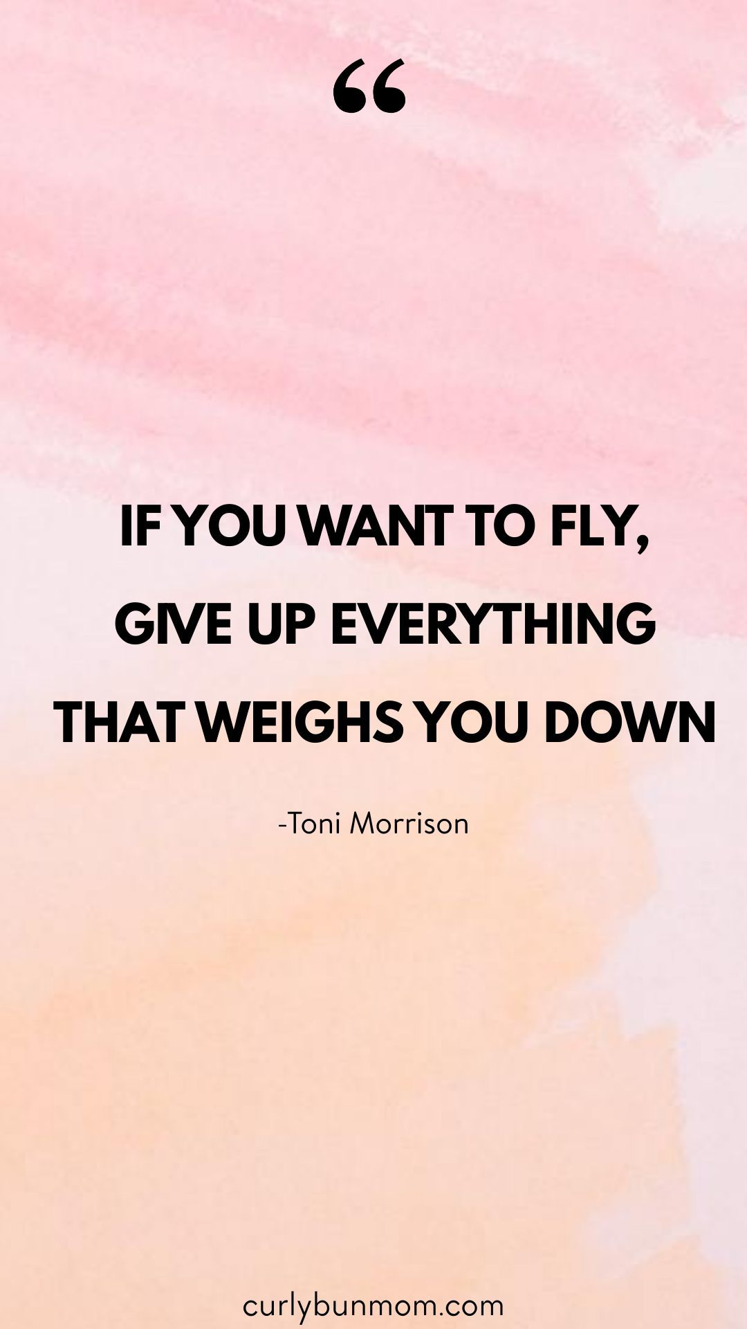 If You Want To Fly, Give Up Everything That Weighs