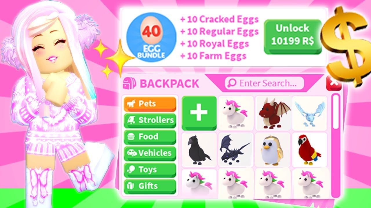 I Bought The Most Expensive Egg Bundle In Adopt Me 10 199 Robux Is It Worth It Roblox Youtube Adoption Roblox Pet Dragon