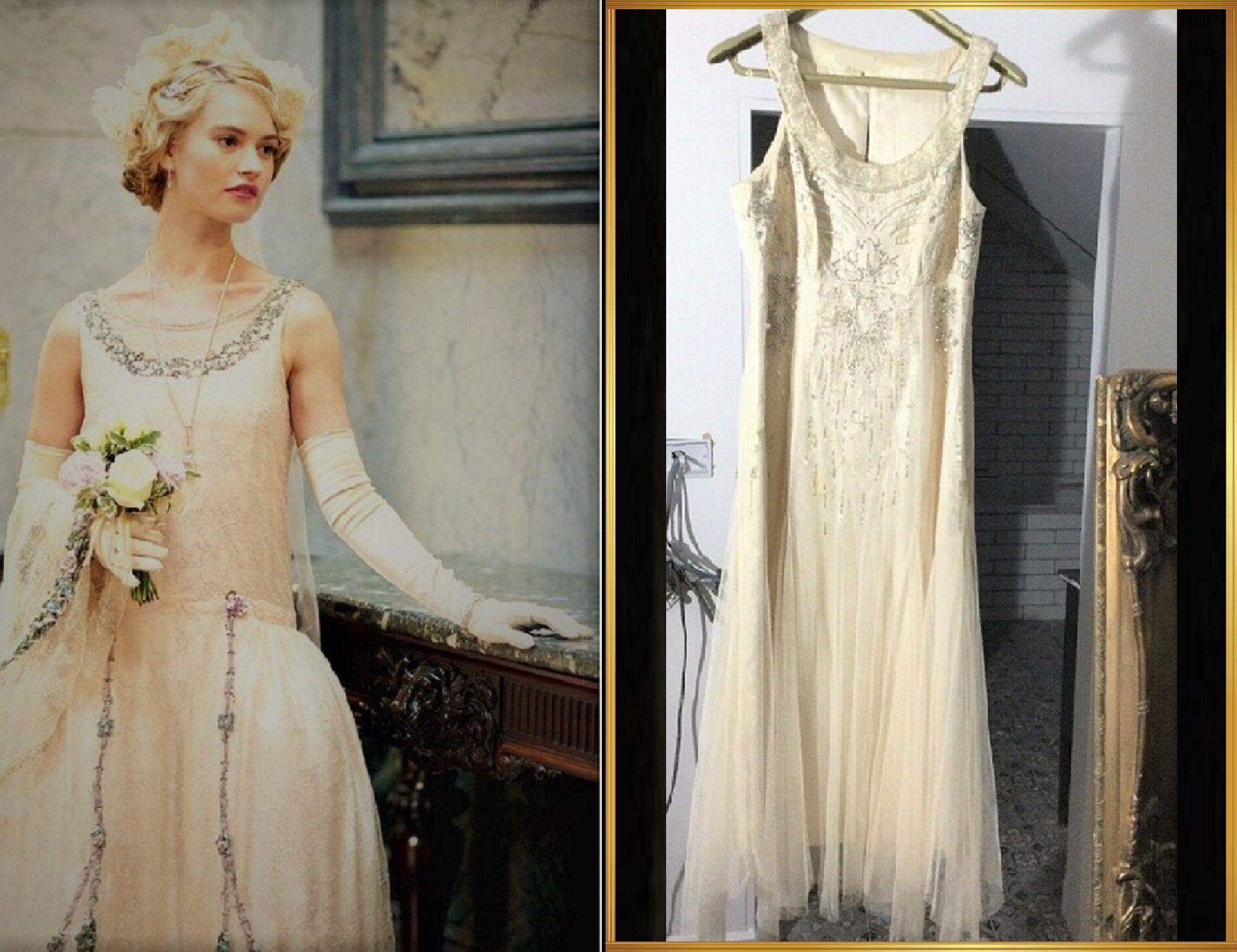 Flapper Wedding Dress Vintage Wedding Dress 1920s Style Etsy Flapper Wedding Dresses 1920s Wedding Dress 1920s Style Wedding Dresses