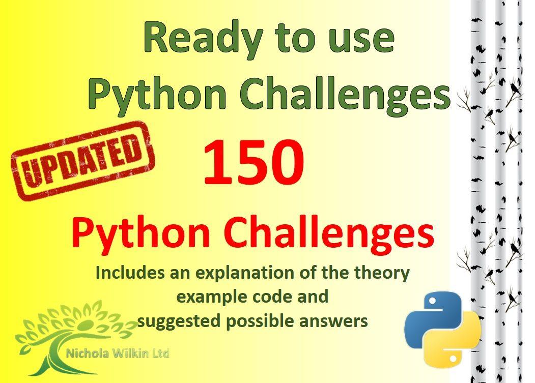 150 Python Programming Challenges | Tech in 2019 | Python
