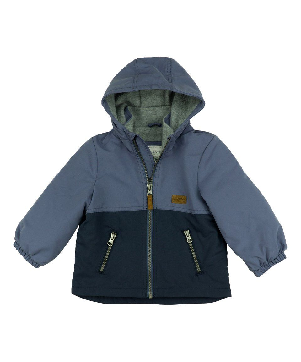 97573641331f Take a look at this Blue Color Block Hooded Windbreaker - Infant ...