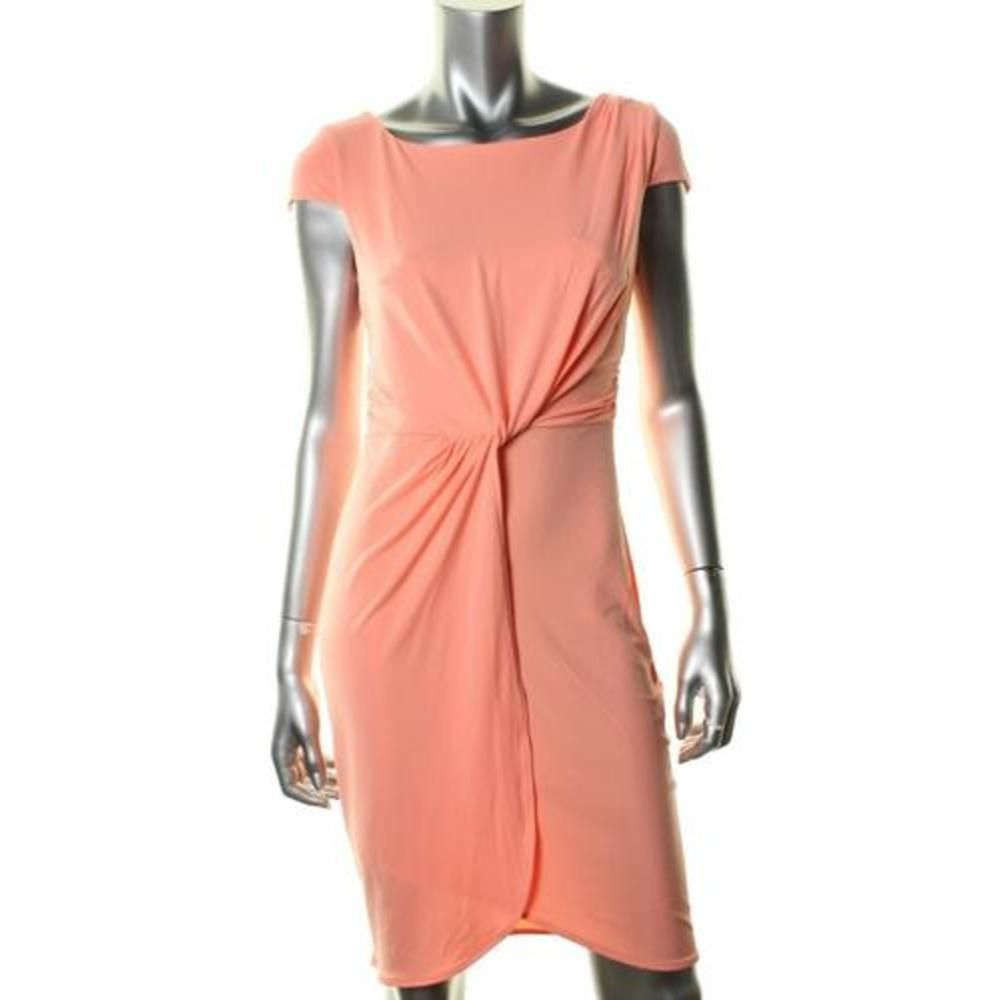 VICTORIA'S SECRET COCKTAIL SEXY MATTE JERSEY KNOT DRESS SZ.LARGE $79.50 NEW #VictoriasSecret #Sheath #Cocktail