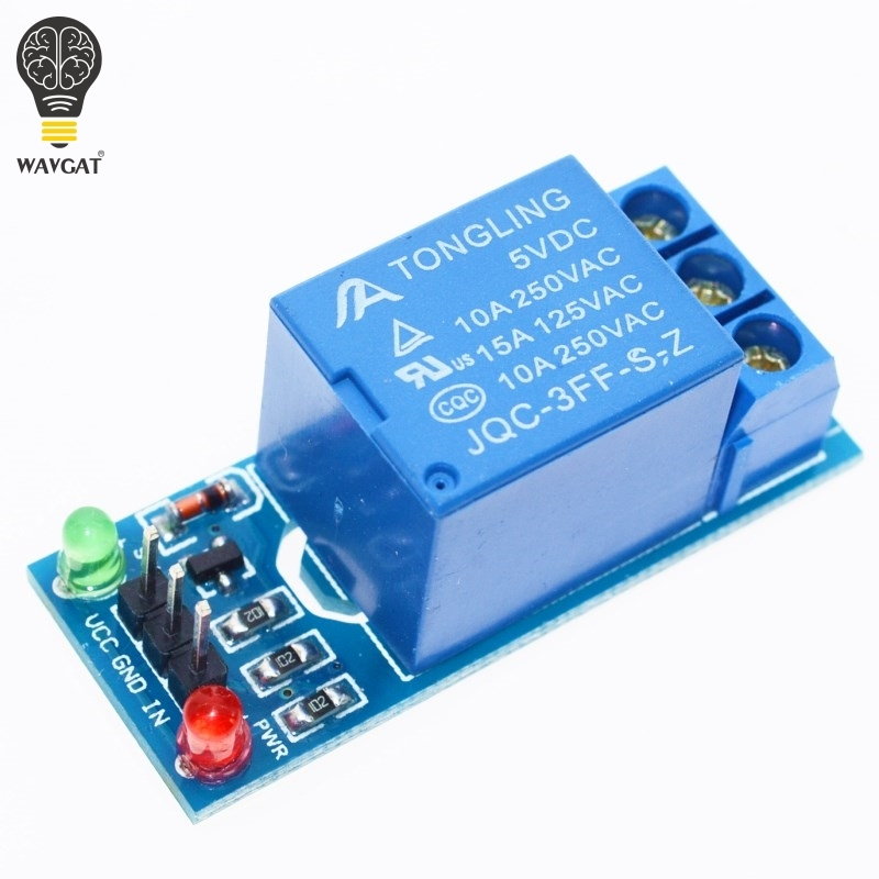 Active Components 5pcs 1 Channel 5v Relay Module High Level For Scm Household Appliance Control New