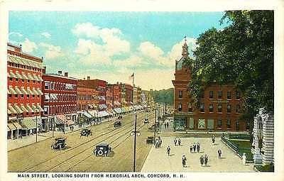 Concord New Hampshire Nh 1914 Main Street Memorial Arch Antique Vintage Postcard Moodys Vintage Postcards New Hampshire Concord Concord Nh