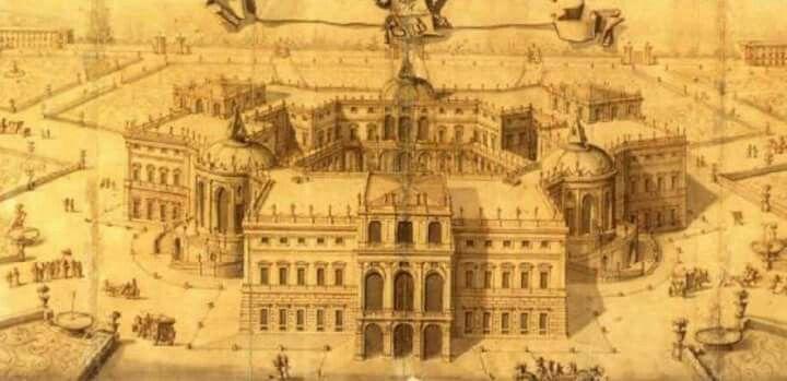 Filippo Juvarra, Regio palazzo in villa per il diporto di tre illustri personaggi, 1705. Dottrina dell'Architettura Architetto David Napolitano