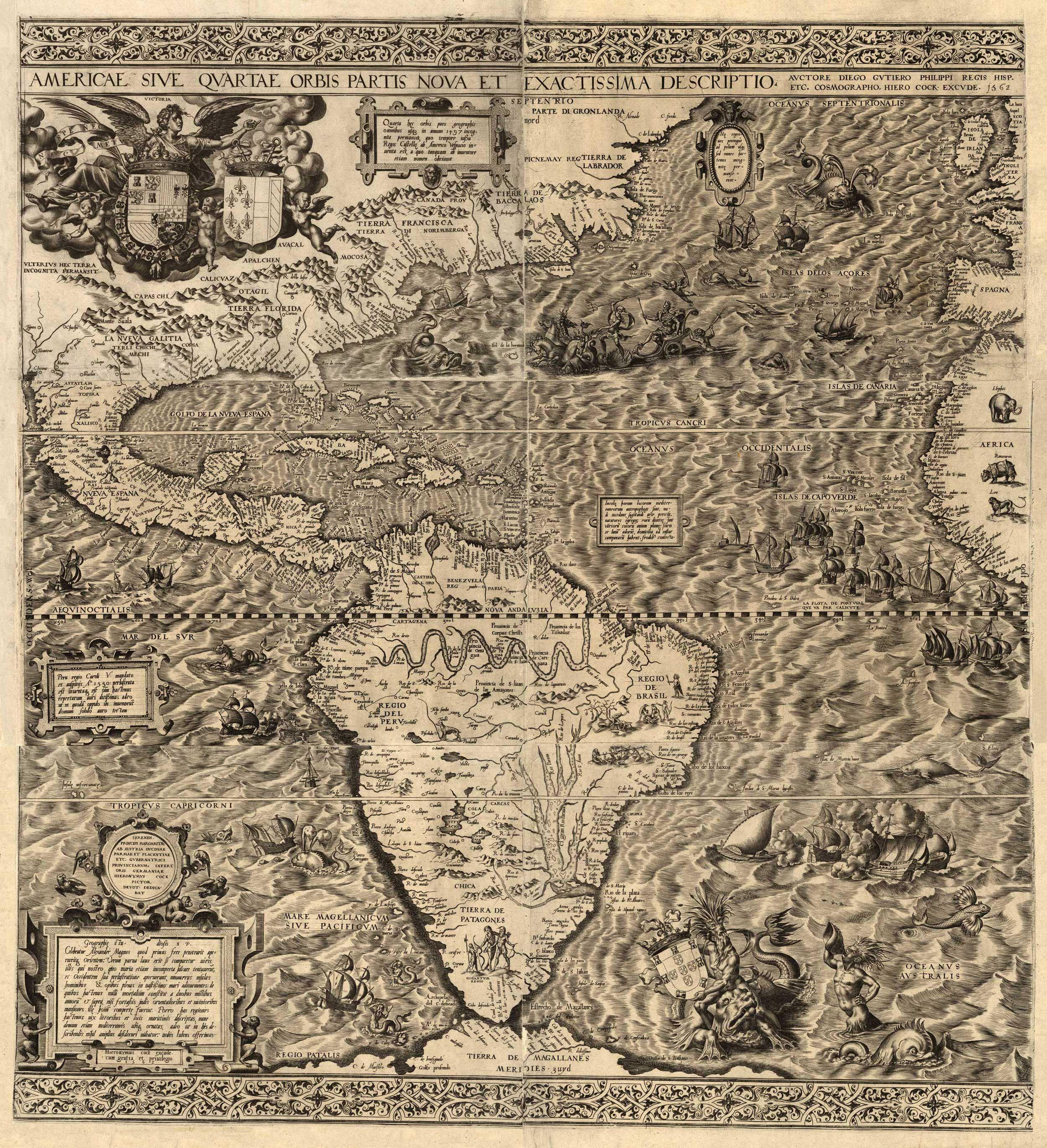 Diego Gutirrez North and South America 1562