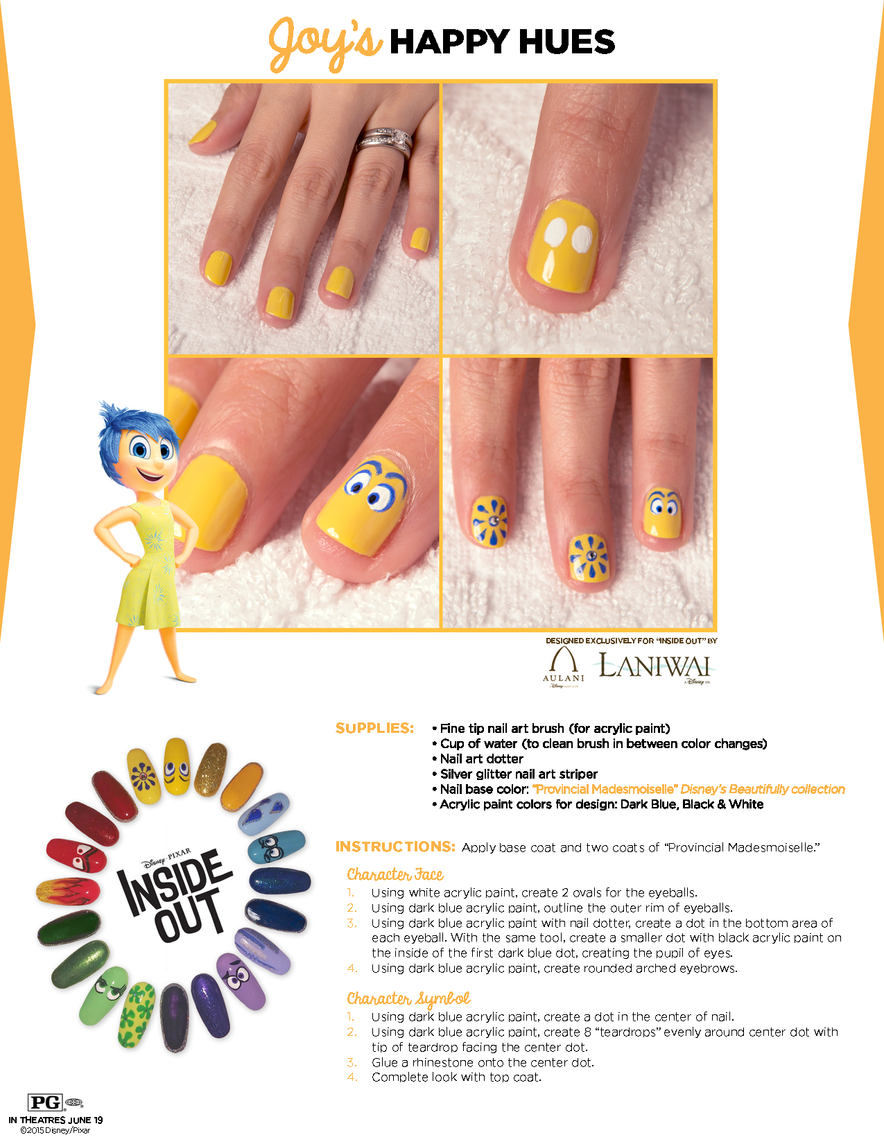 Get emotional with this #InsideOut inspired nail art tutorial ...