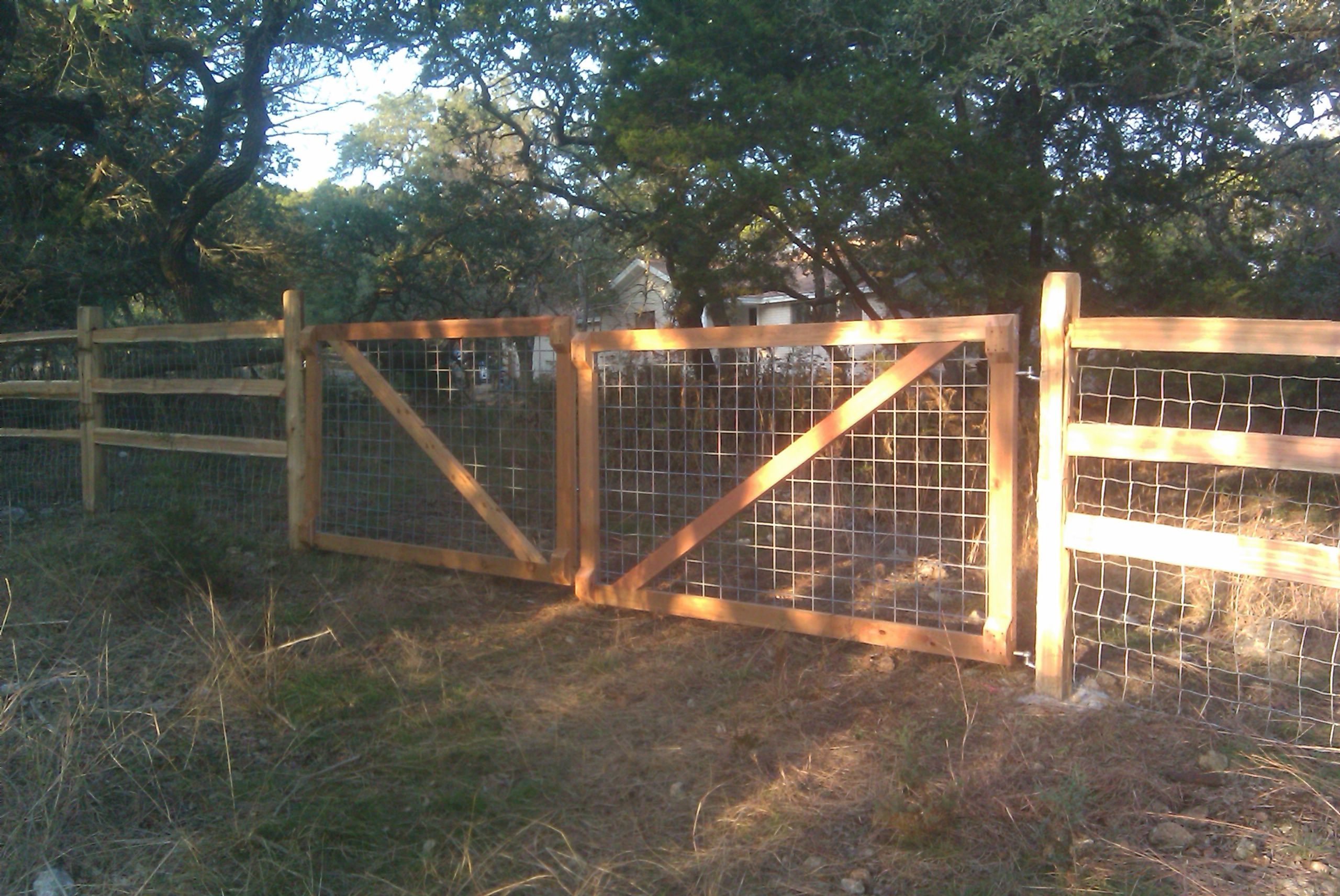 wire farm fence gate. Ranch Fencing - Good To Keep Pigs Out Wire Farm Fence Gate E