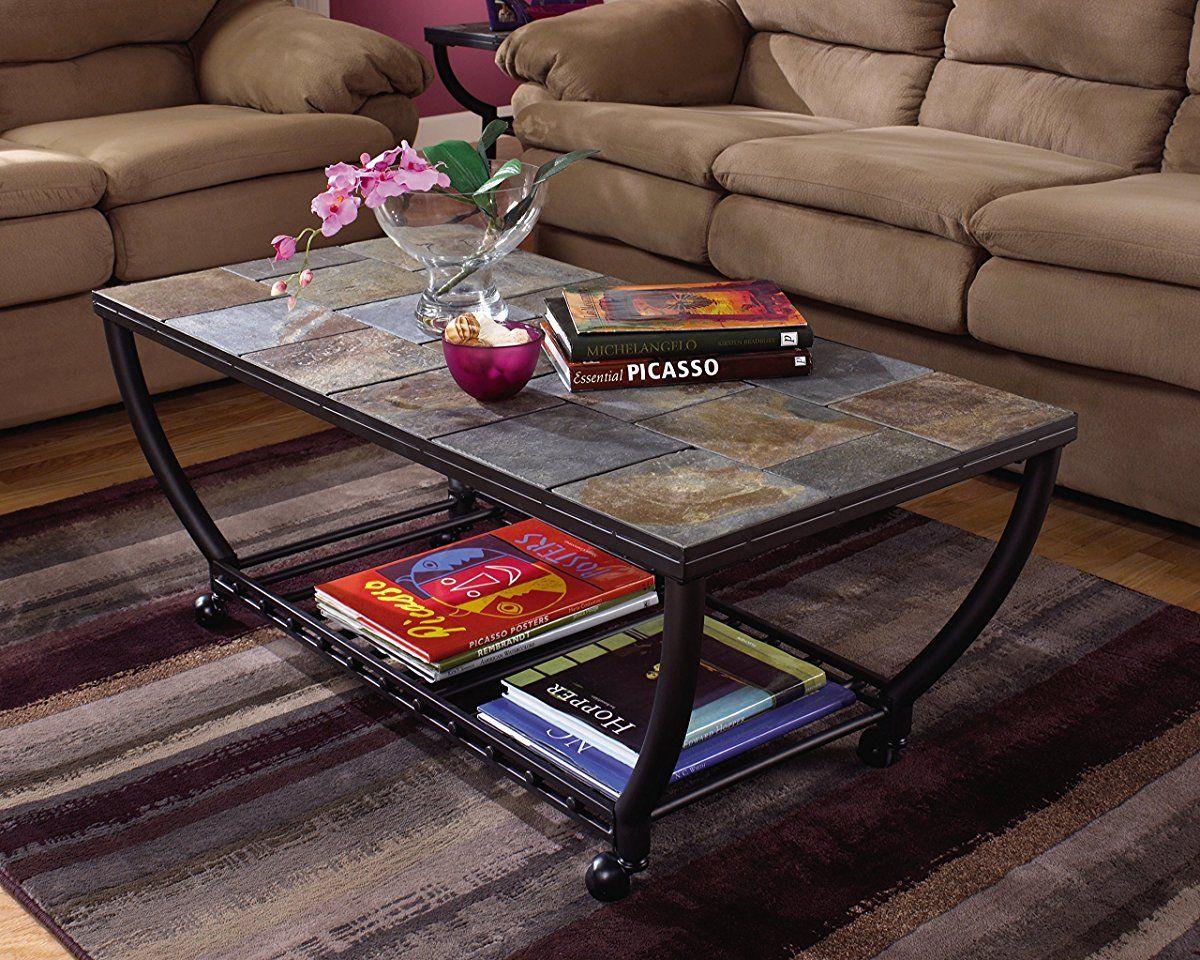 Ashley Furniture Signature Design Antigo Coffee Table Slate