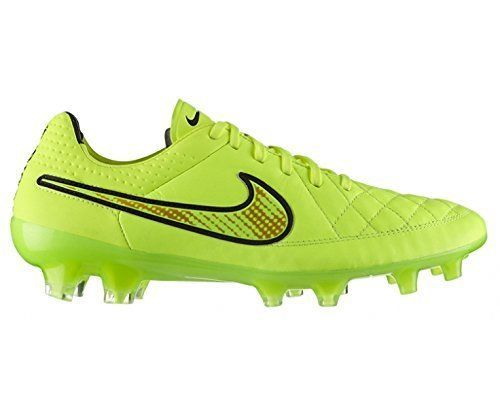 check out 9d9d5 e2681 NIKE Tiempo Legend V FG Men's Soccer Cleats Fluo Yellow, US ...