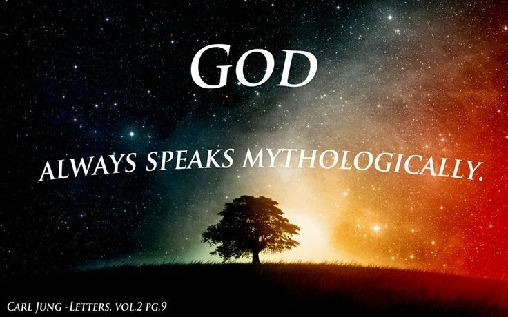 Carl Jung Depth Psychology: Carl Jung: people assume that I am talking about God himself. -- Because of this, god should also be treated as a myth.