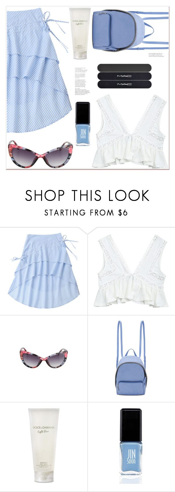 """""""Summer date"""" by mycherryblossom ❤ liked on Polyvore featuring STELLA McCARTNEY, Dolce&Gabbana, JINsoon and MAC Cosmetics"""