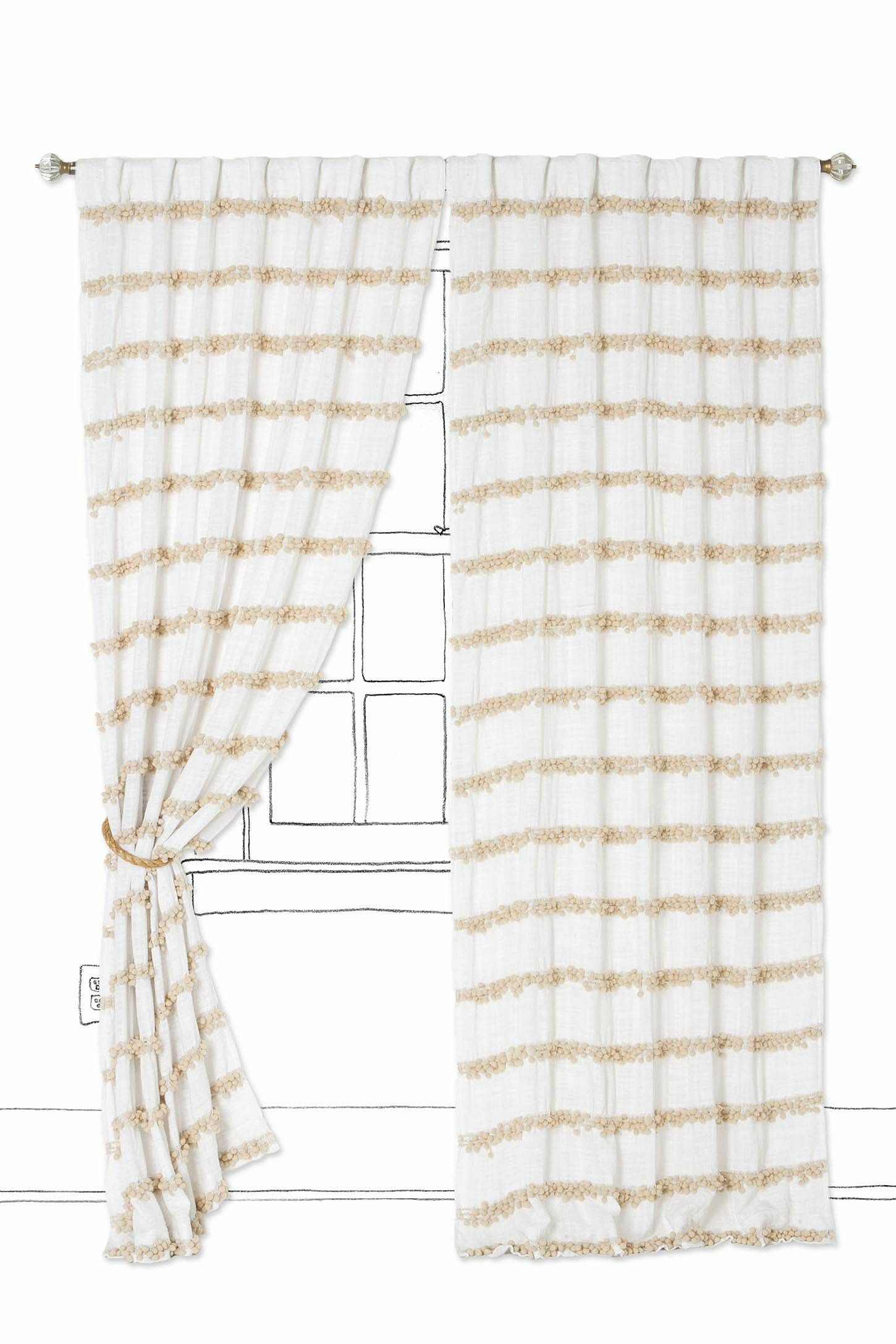 Swing Stripes Curtain - Anthropologie.com