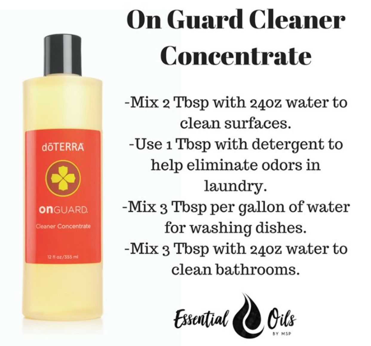 Doterra bathroom cleaner - On Guard Cleaner Concentrate Uses
