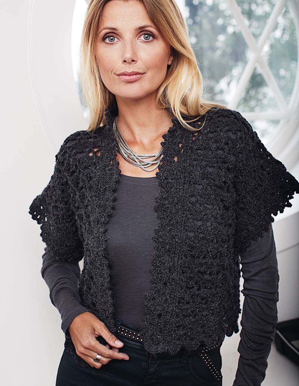 Кружевной жилет   вязание крючком   Pinterest   Chaleco crochet ...