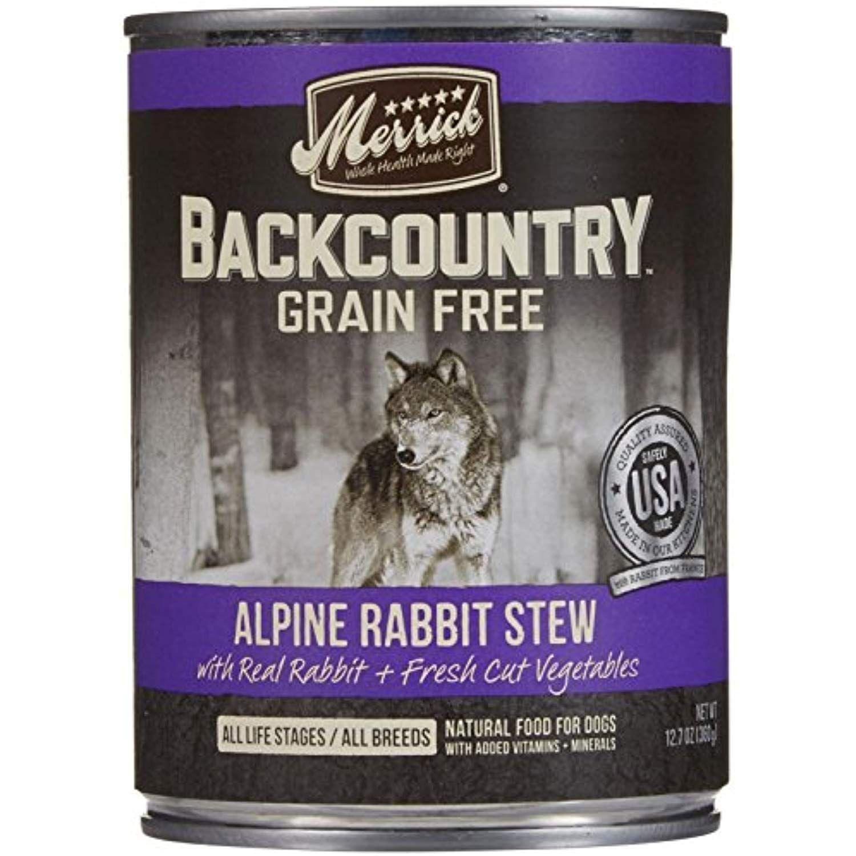Merrick backcountry alpine rabbit stew 127 oz 12 ct