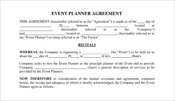 Event Planner Contract Event Planning Contract Event Planning