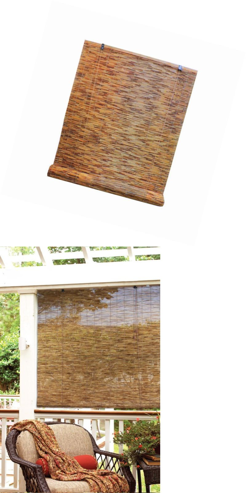Blinds and shades bamboo reed blinds indoor outdoor roll up