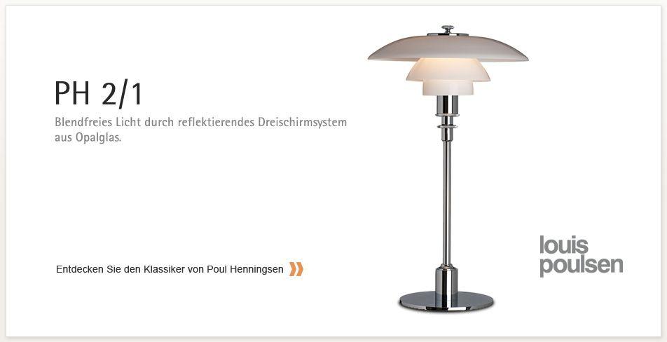 Louis Poulsen Ph 2 1 Tischleuchte Design Leuchten Lampen Online Design Lampen