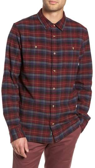 a195e3d0e74811 Vans Banfield III Plaid Flannel Shirt