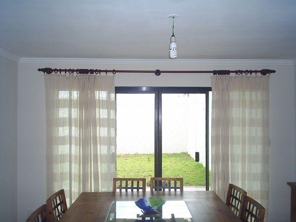 Cortinas rusticas con madera simple decoraci n r stica - Cortinas para casa de campo ...