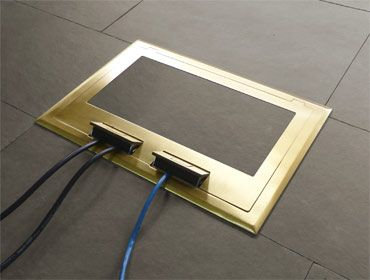 Electrical Floor Box R2x Brass Floor Box Cover