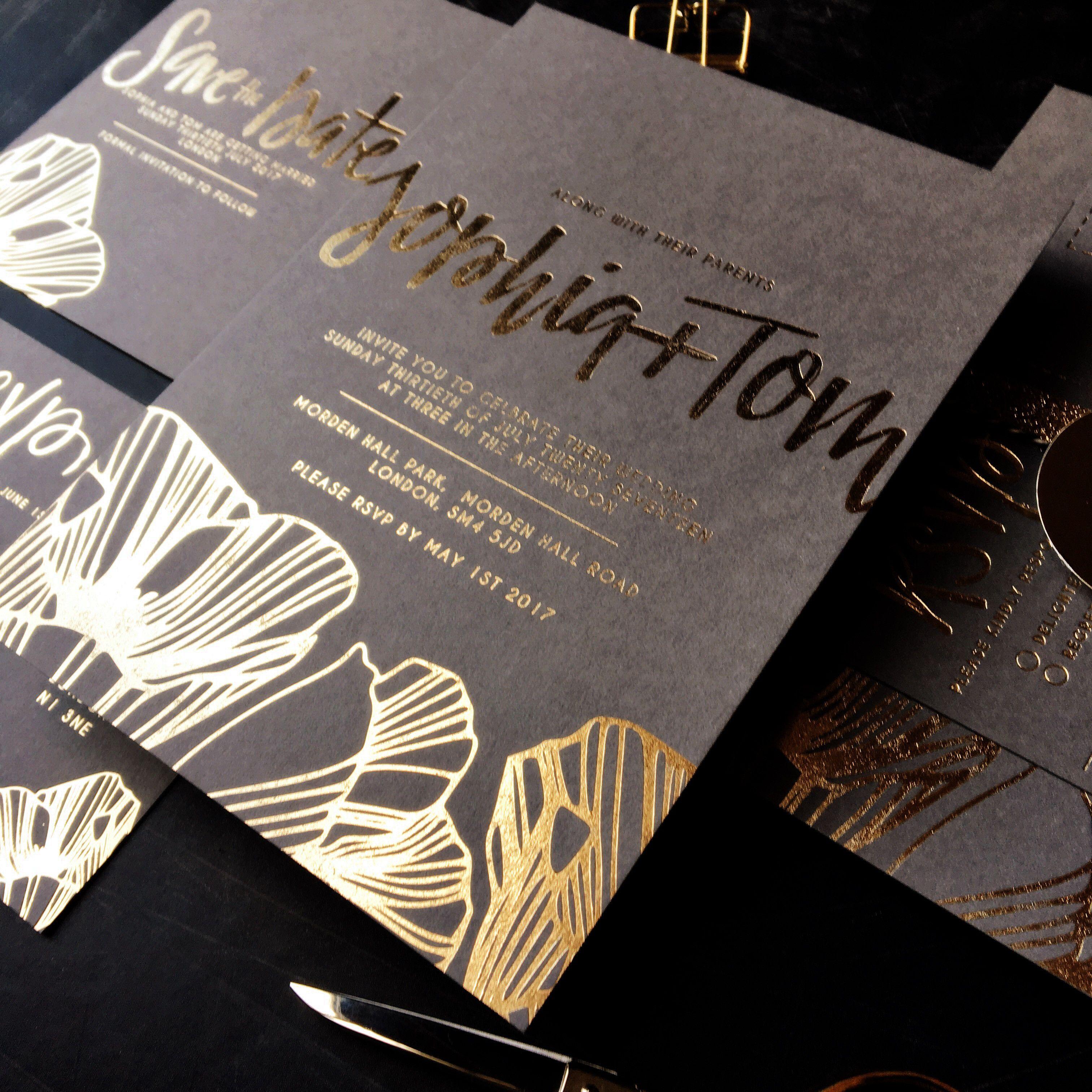 Bespoke Wedding Invitations London Custom Calligraphy