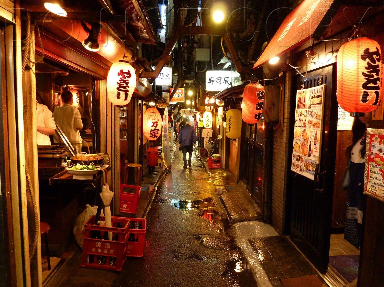 Japan food alley in tokyo japan street japan japanese