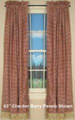 Country Curtains and Primitive Decor - Checker Berry Drapes