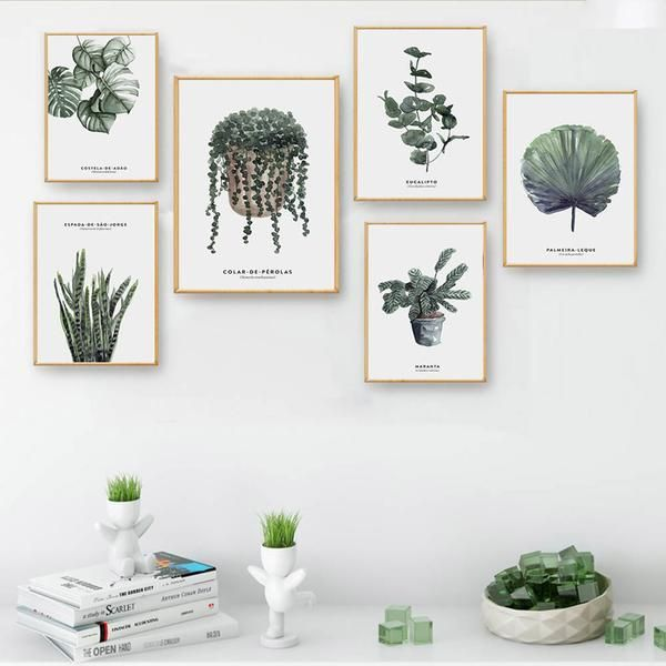 Watercolor Plants and Leaves Canvas Wall Art.  Order Today and Get Free Worldwide Shipping. #poster #print #art #wallart #artprint