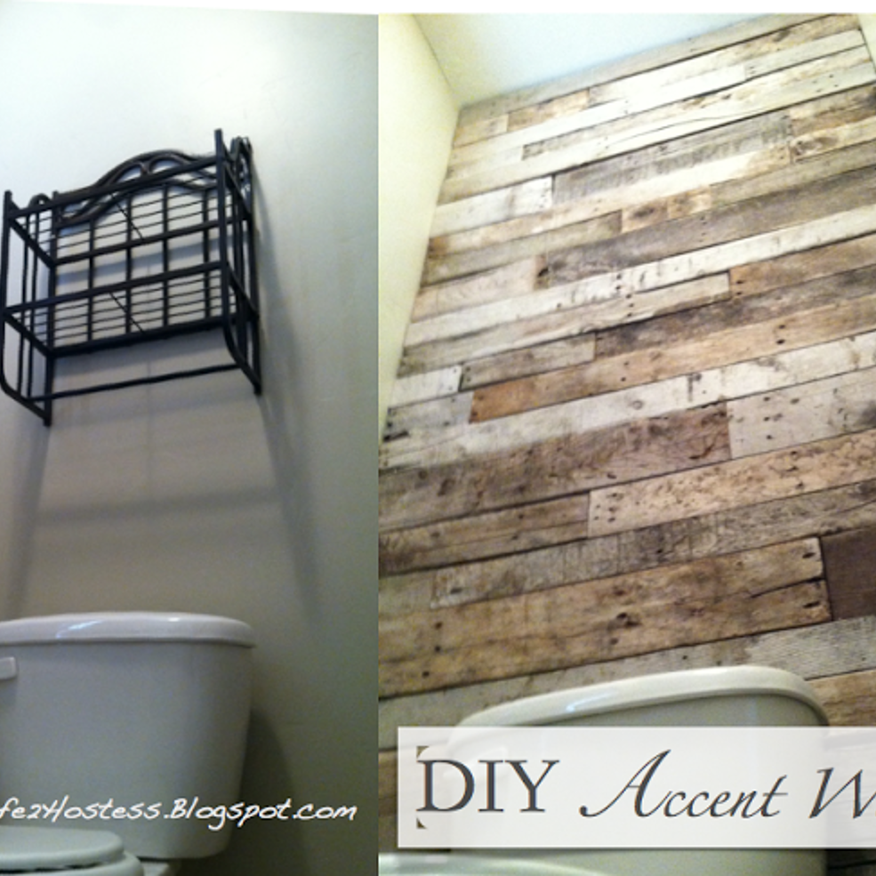 Renting A Pallet Accent Wall: Housewife 2 Hostess : Pallet Accent Wall