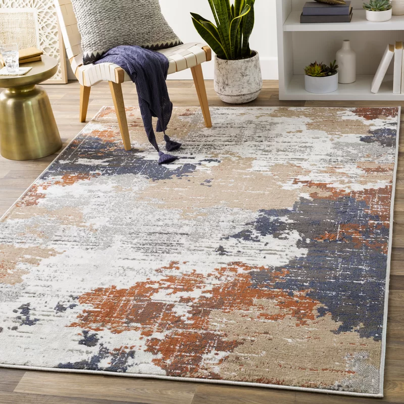 Yves Abstract Area Rug Area Rugs Industrial Area Rugs Rugs