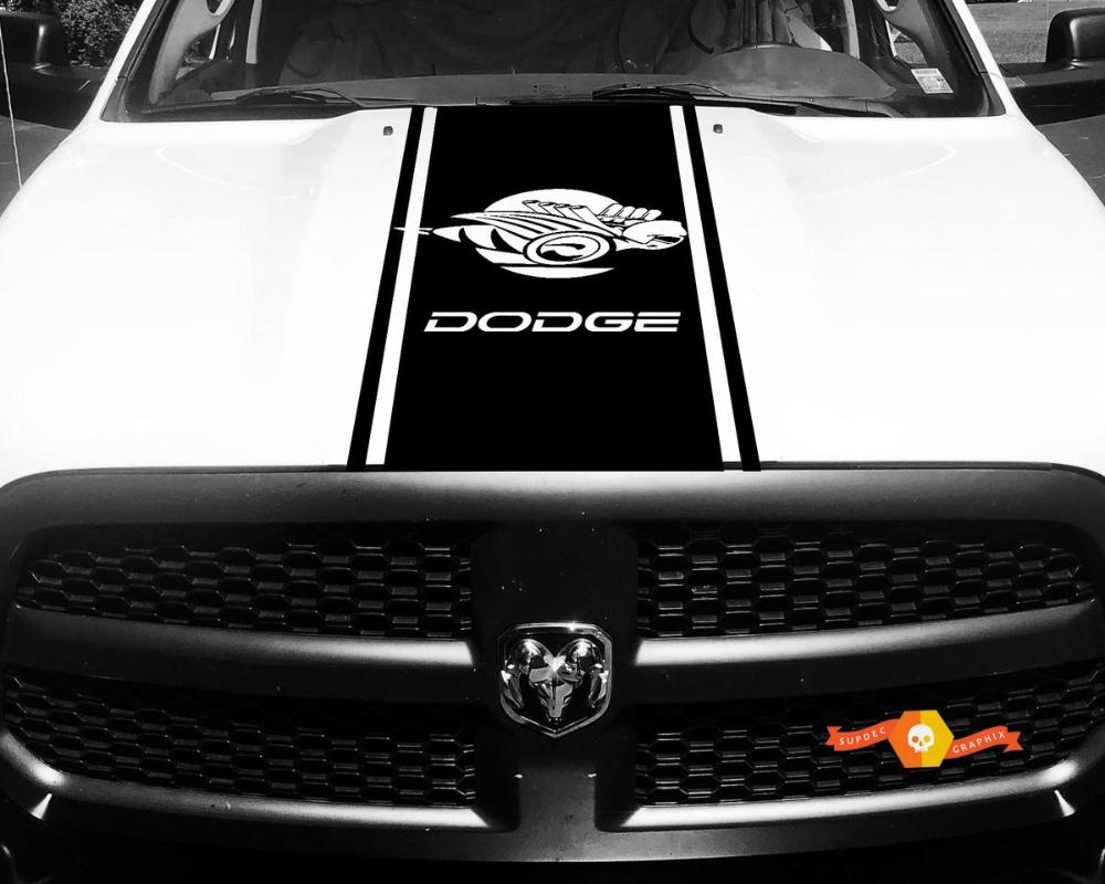 Ram Truck 1500 2500 3500 Bee Hood Stripes Vinyl Decal Sticker Graphic DH-006B
