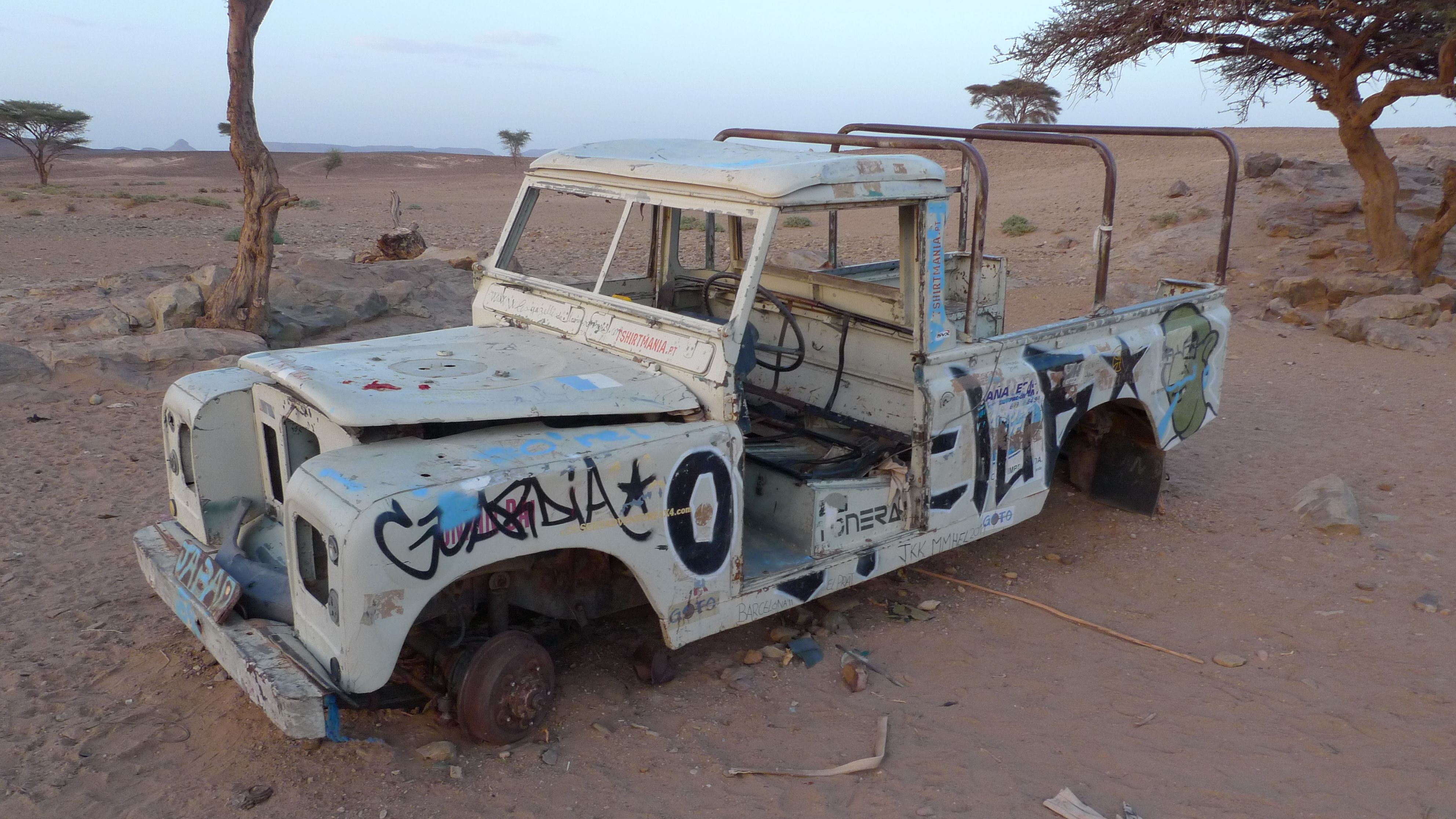 I Found This Land Rover At The Sahara Desert Morocco Land