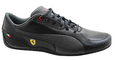 8e40f32cbea94 Puma drift cat 5 s sf  ferrari  trainers mens  black leather 304653 ...