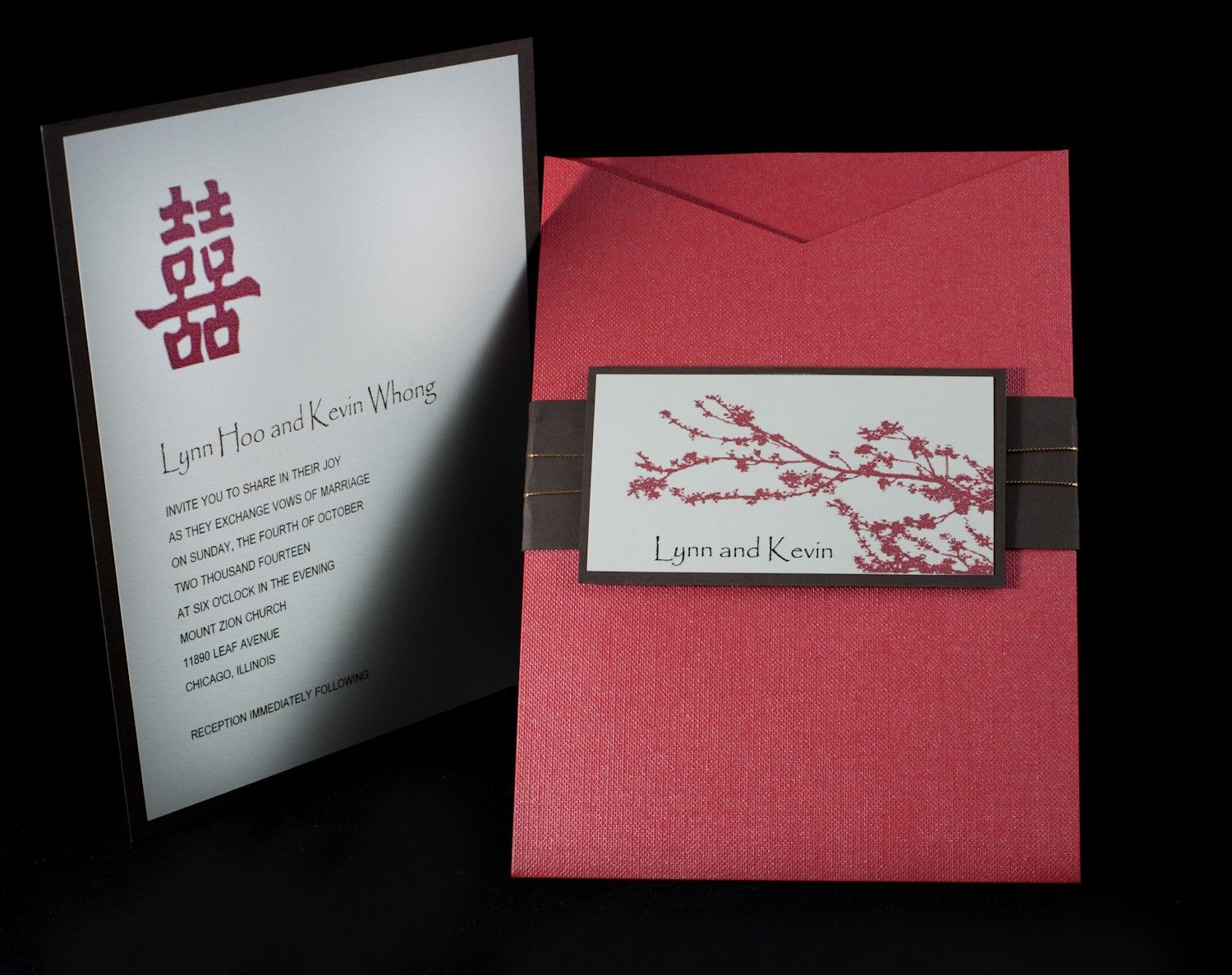 Asian Cherry Blossom Wedding Invitation Set. $130.00, via Etsy ...