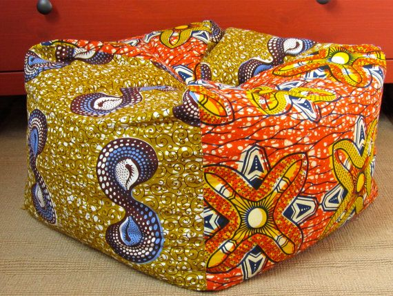 Image result for african fabric covers poufs
