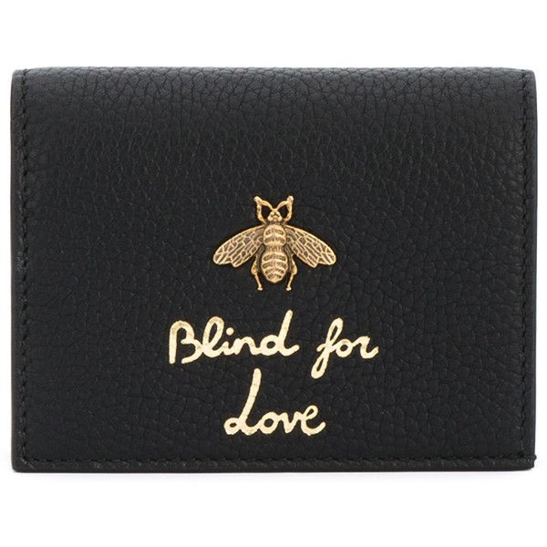 5a274b99b8f Gucci  blind for love  wallet ( 395) ❤ liked on Polyvore featuring bags
